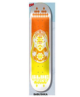 Blueprint Spray Heart Skateboard Deck 8.25 - Orange